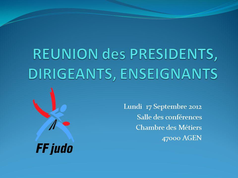 Lundi 17 Septembre 2012 Salle des conférences Chambre des Métiers 47000 AGEN