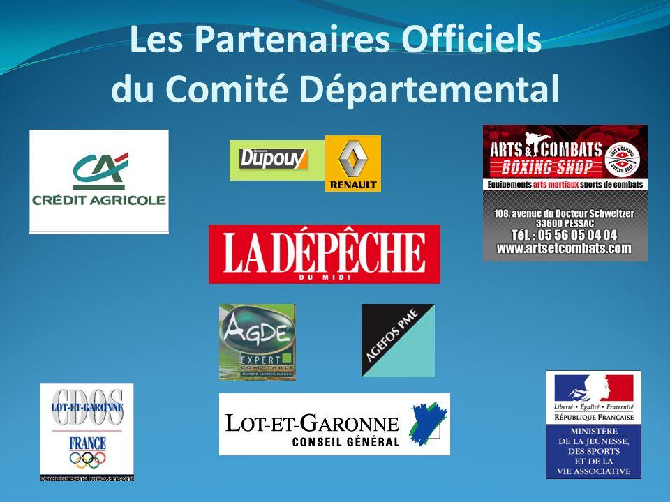 BIENVENUE DANS VOTRE ETABLISSEMENT A.D.R.E.A. SA Les Partenaires Officiels du Comité Départemental