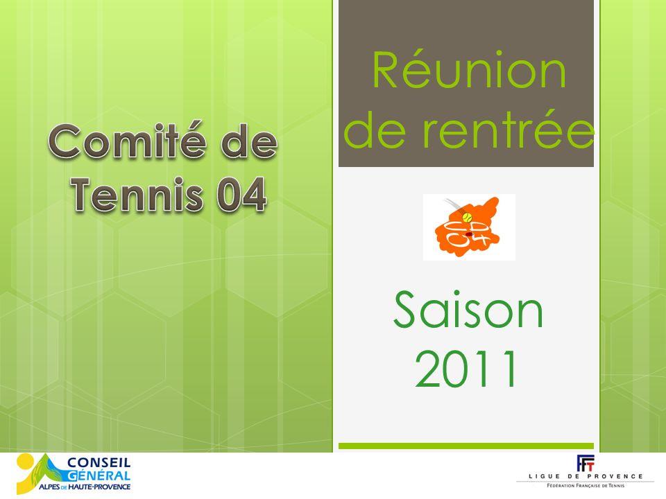 Réunion de rentrée Saison 2011