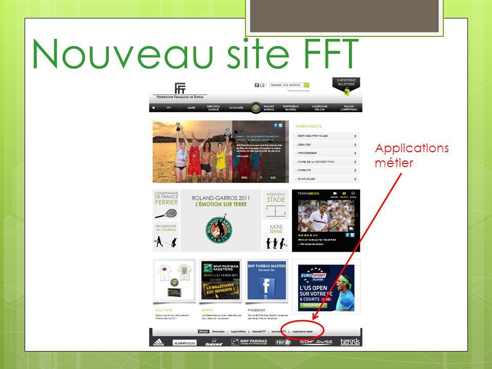 Nouveau site FFT Applications métier