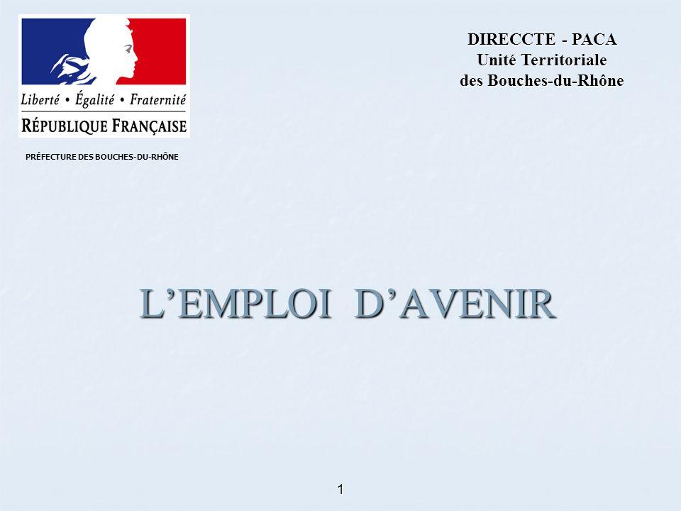1 LEMPLOI DAVENIR DIRECCTE - PACA Unité Territoriale des Bouches-du-Rhône PRÉFECTURE DES BOUCHES-DU-RHÔNE