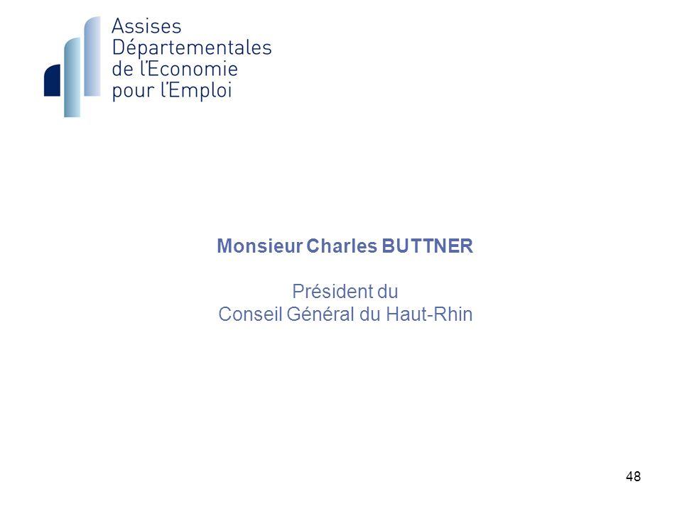 48 Monsieur Charles BUTTNER Président du Conseil Général du Haut-Rhin