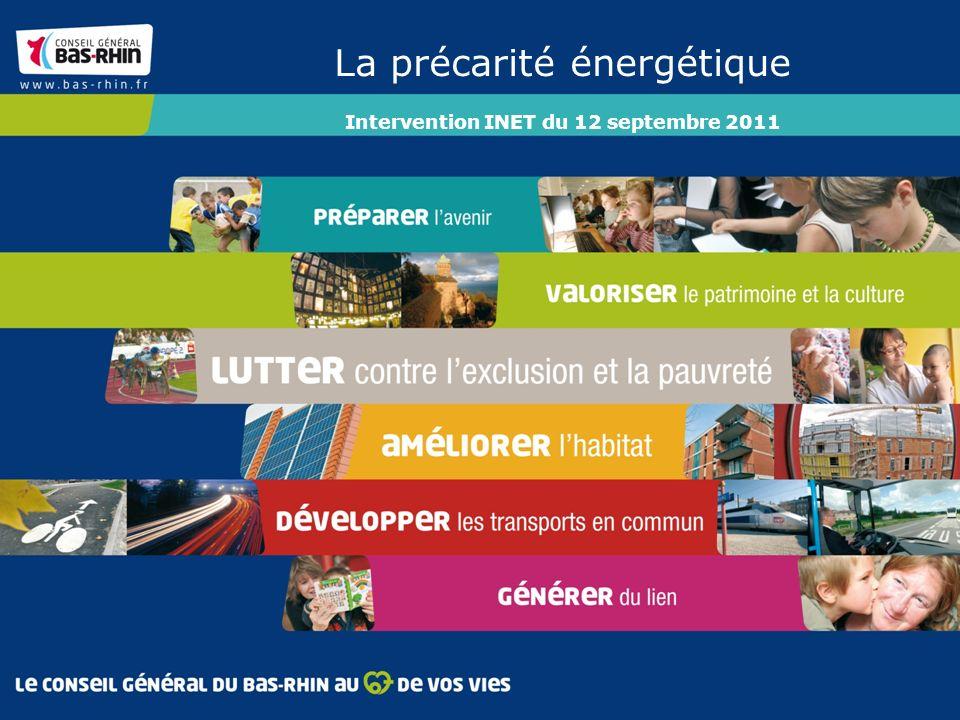 La précarité énergétique Intervention INET du 12 septembre 2011