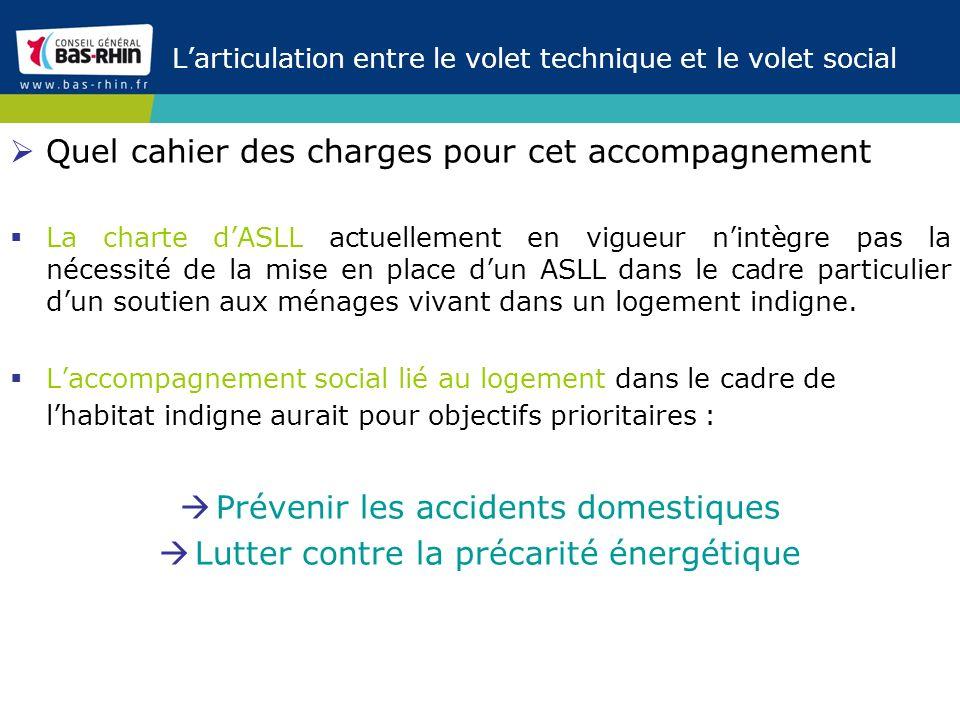 Larticulation entre le volet technique et le volet social Quel cahier des charges pour cet accompagnement La charte dASLL actuellement en vigueur nint