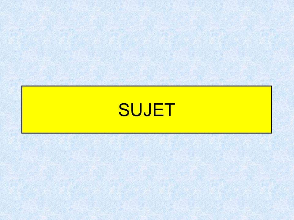 SUJET