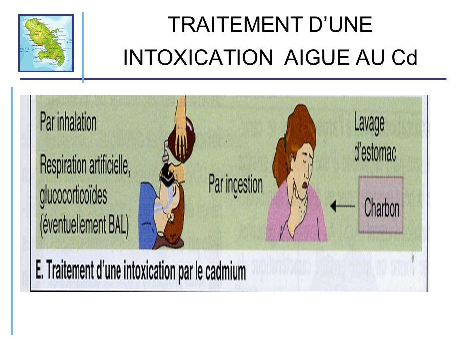 TRAITEMENT DUNE INTOXICATION AIGUE AU Cd