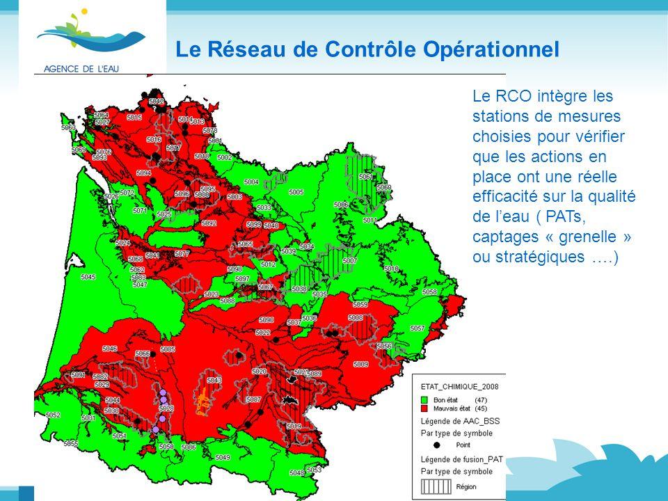 Le Réseau de Contrôle Opérationnel Le RCO intègre les stations de mesures choisies pour vérifier que les actions en place ont une réelle efficacité su