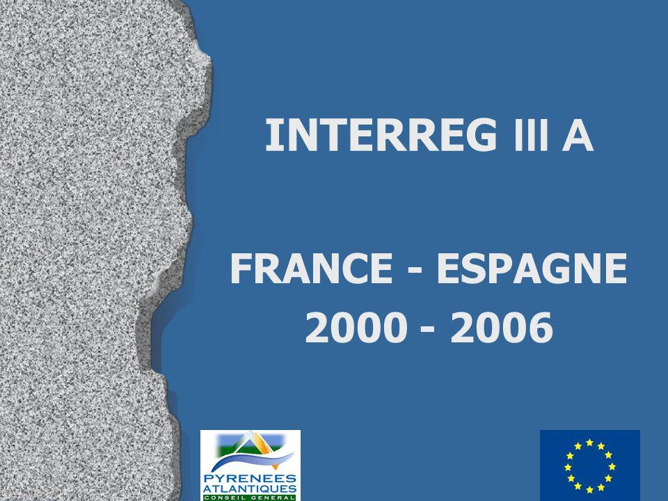 INTERREG III A FRANCE - ESPAGNE 2000 - 2006