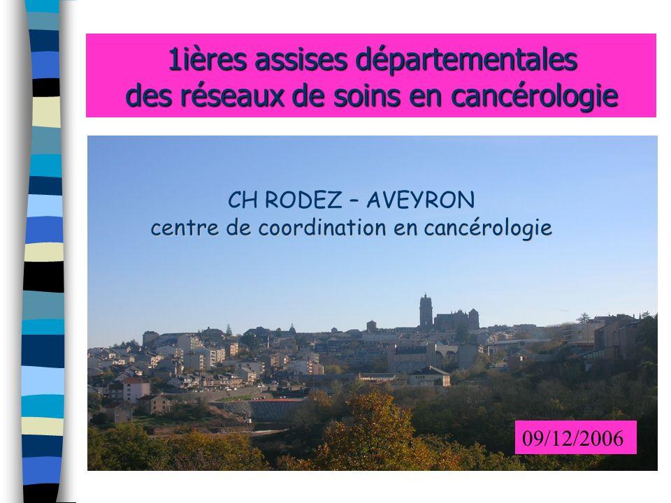 1ières assises départementales des réseaux de soins en cancérologie centre de coordination en cancérologie CH RODEZ – AVEYRON centre de coordination e