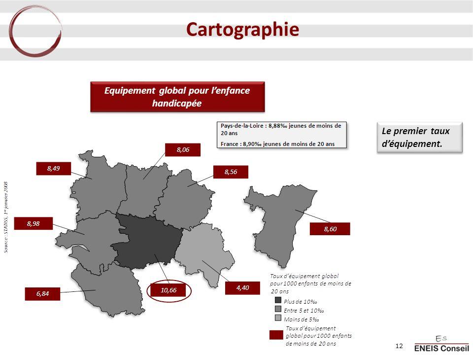 Equipement global pour lenfance handicapée Le premier taux déquipement. 12 Cartographie