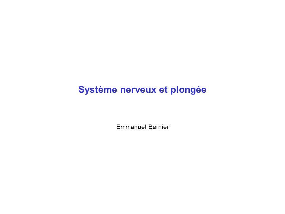 Système nerveux et plongée Emmanuel Bernier