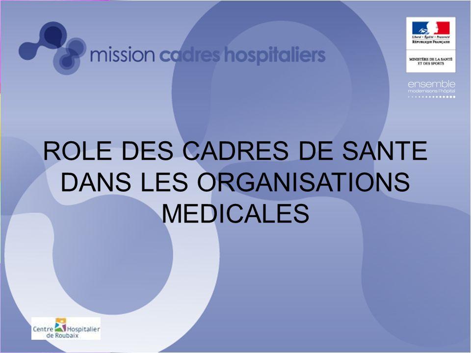 ROLE DES CADRES DE SANTE DANS LES ORGANISATIONS MEDICALES