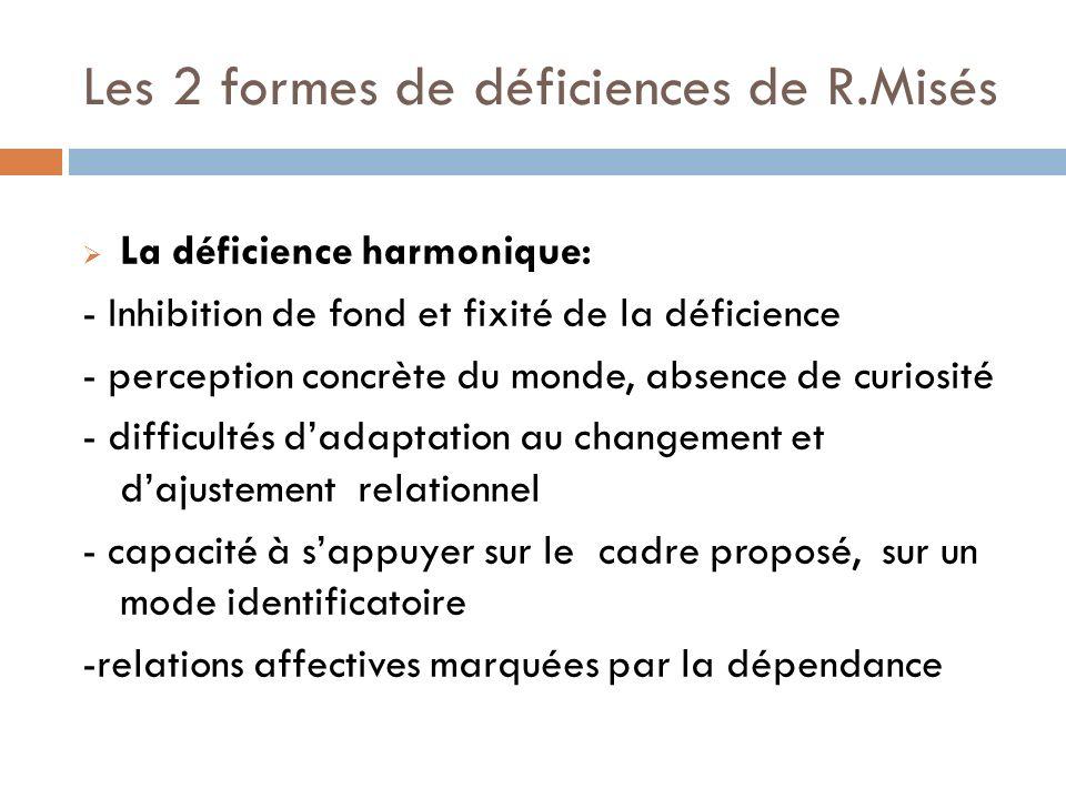 La déficience dysharmonique: - présence de troubles associés: tr.