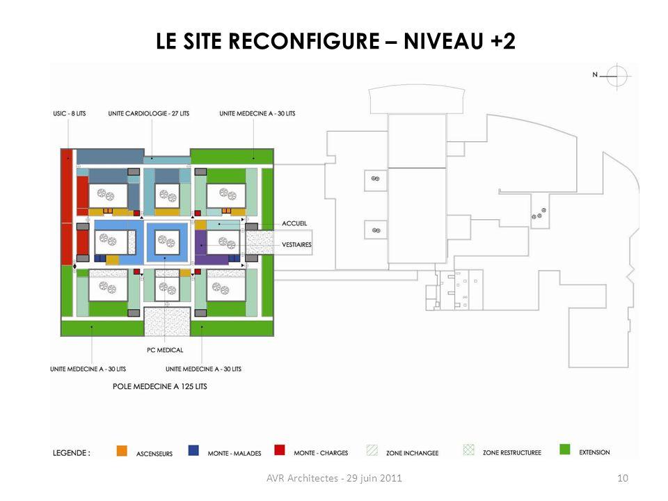 AVR Architectes - 29 juin 201110 LE SITE RECONFIGURE – NIVEAU +2