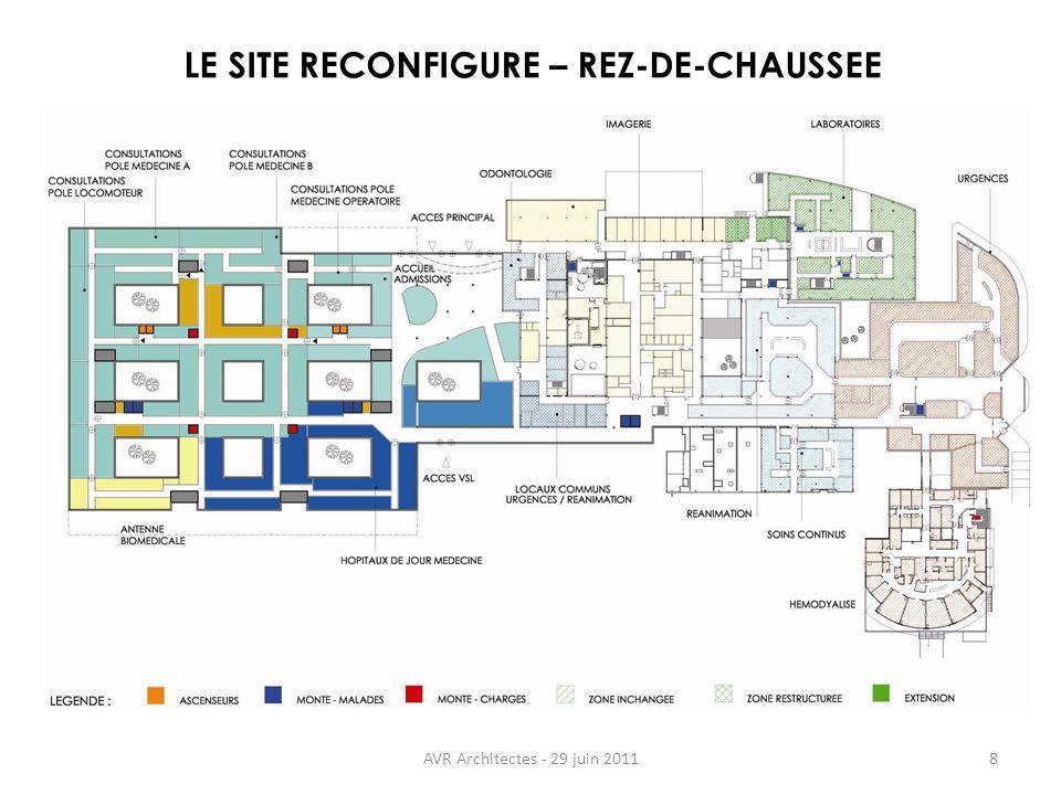 AVR Architectes - 29 juin 20118 LE SITE RECONFIGURE – REZ-DE-CHAUSSEE
