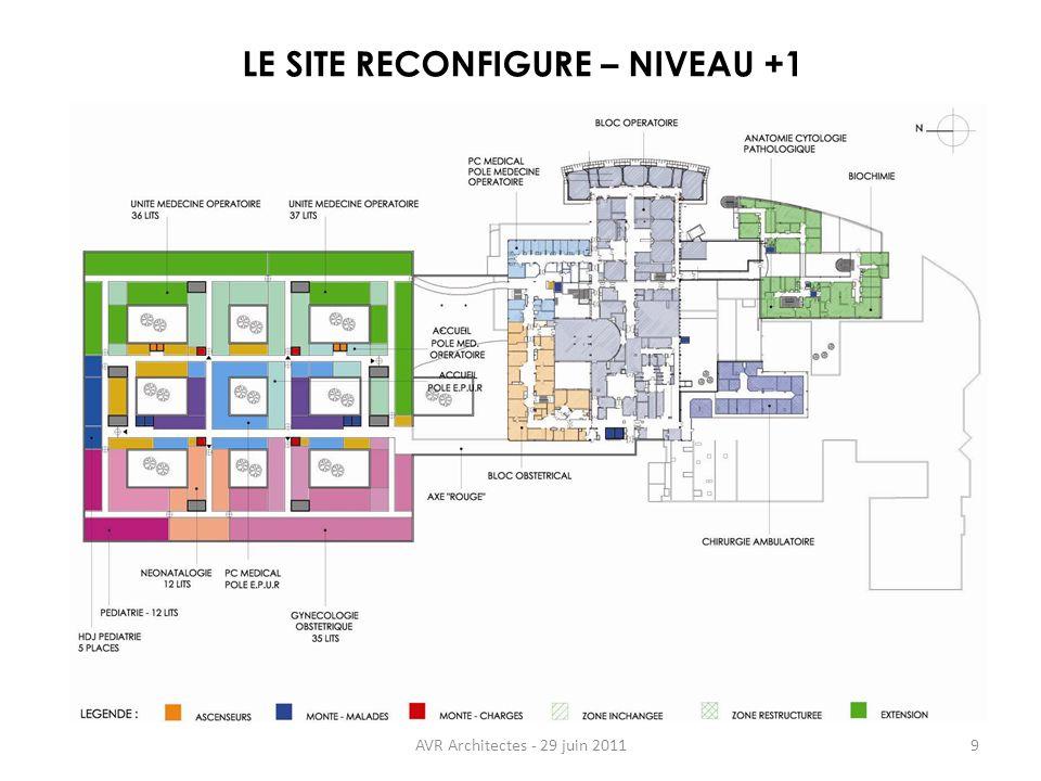 AVR Architectes - 29 juin 20119 LE SITE RECONFIGURE – NIVEAU +1