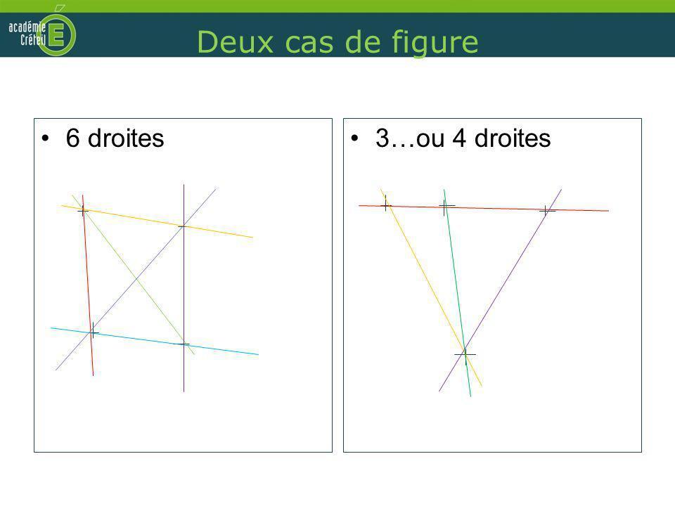 Deux cas de figure 6 droites3…ou 4 droites