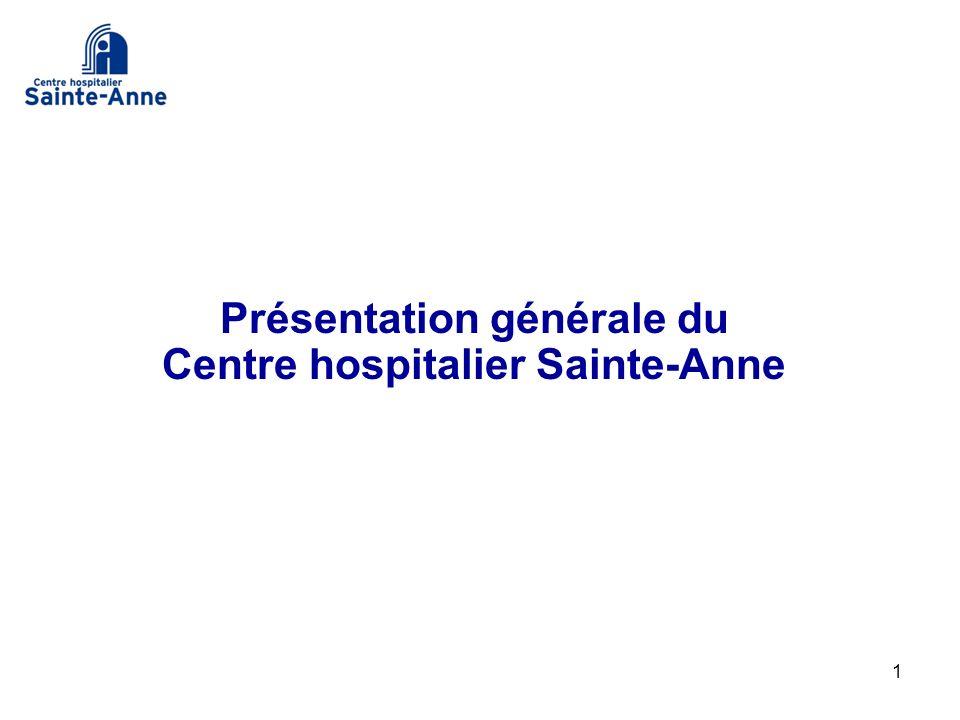 1 Présentation générale du Centre hospitalier Sainte-Anne