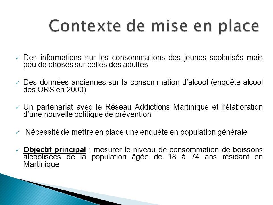 Des informations sur les consommations des jeunes scolarisés mais peu de choses sur celles des adultes Des données anciennes sur la consommation dalco