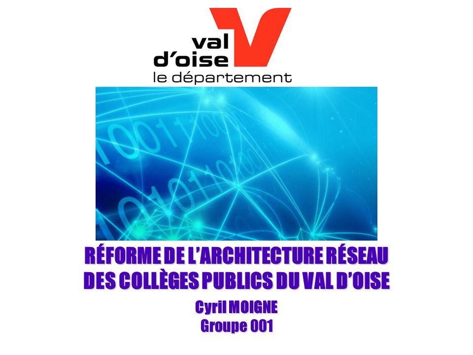 RÉFORME DE LARCHITECTURE RÉSEAU DES COLLÈGES PUBLICS DU VAL DOISE Cyril MOIGNE Groupe 001