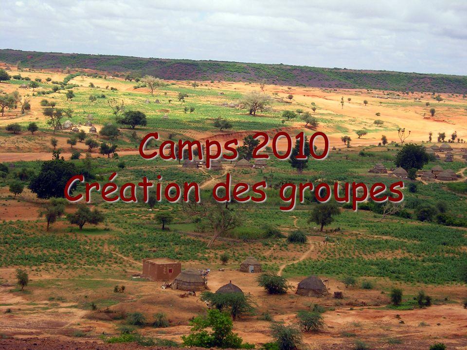 Camps 2010 Création des groupes