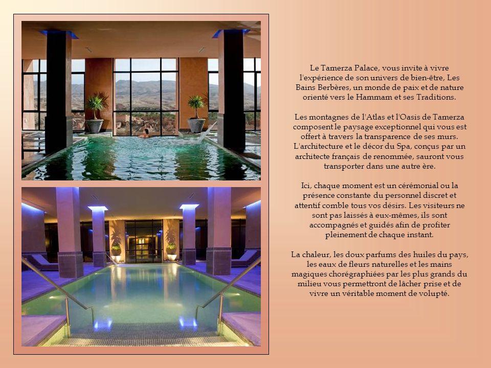 Le Tamerza Palace, vous invite à vivre l'expérience de son univers de bien-être, Les Bains Berbères, un monde de paix et de nature orienté vers le Ham