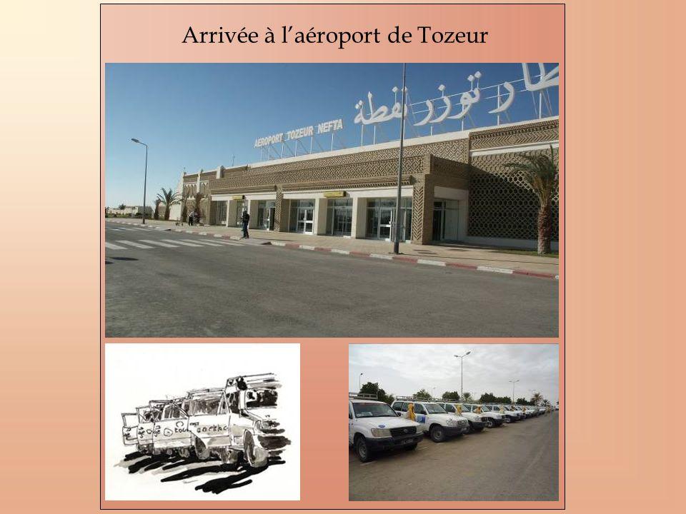 Arrivée à laéroport de Tozeur
