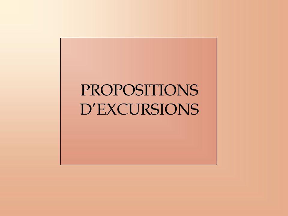 PROPOSITIONS DEXCURSIONS