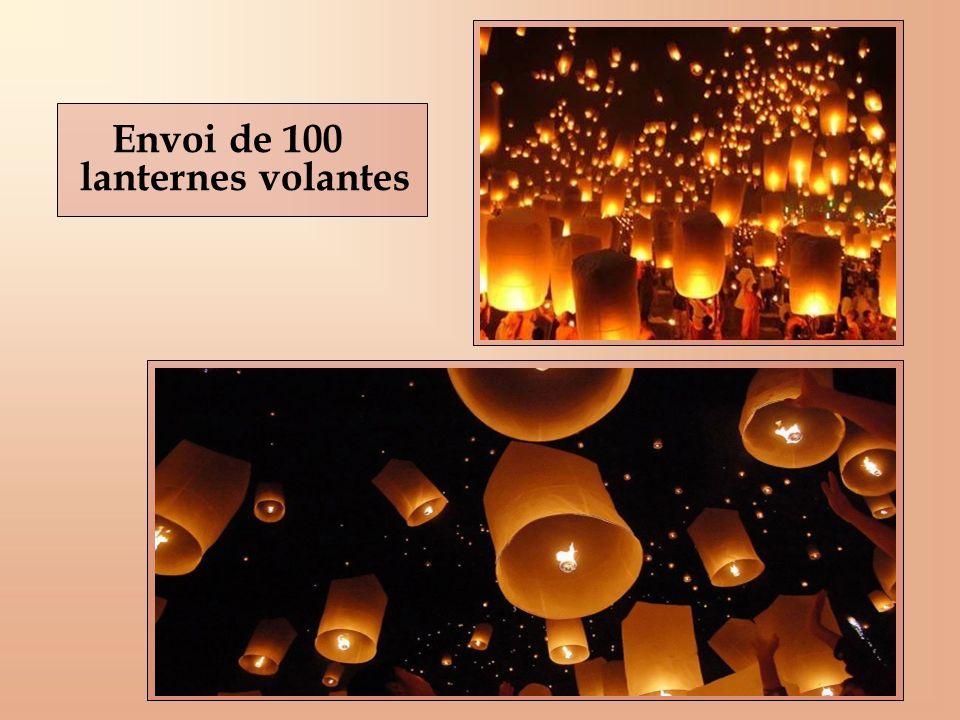 Envoi de 100 lanternes volantes