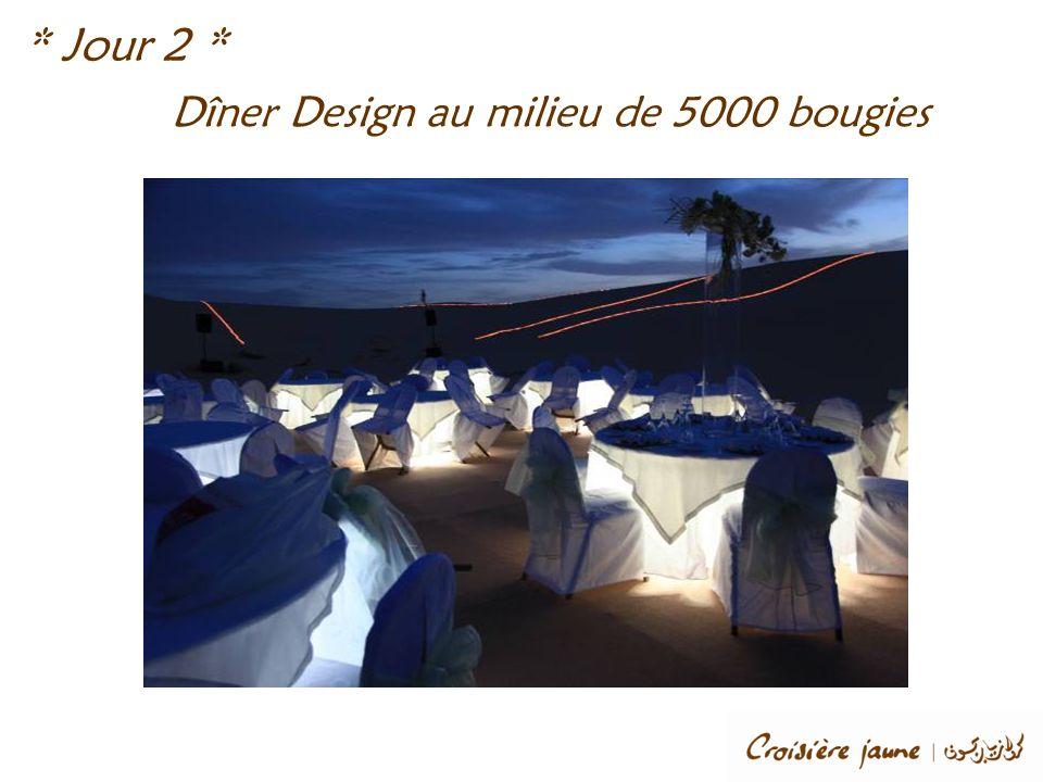 * Jour 2 * Dîner Design au milieu de 5000 bougies