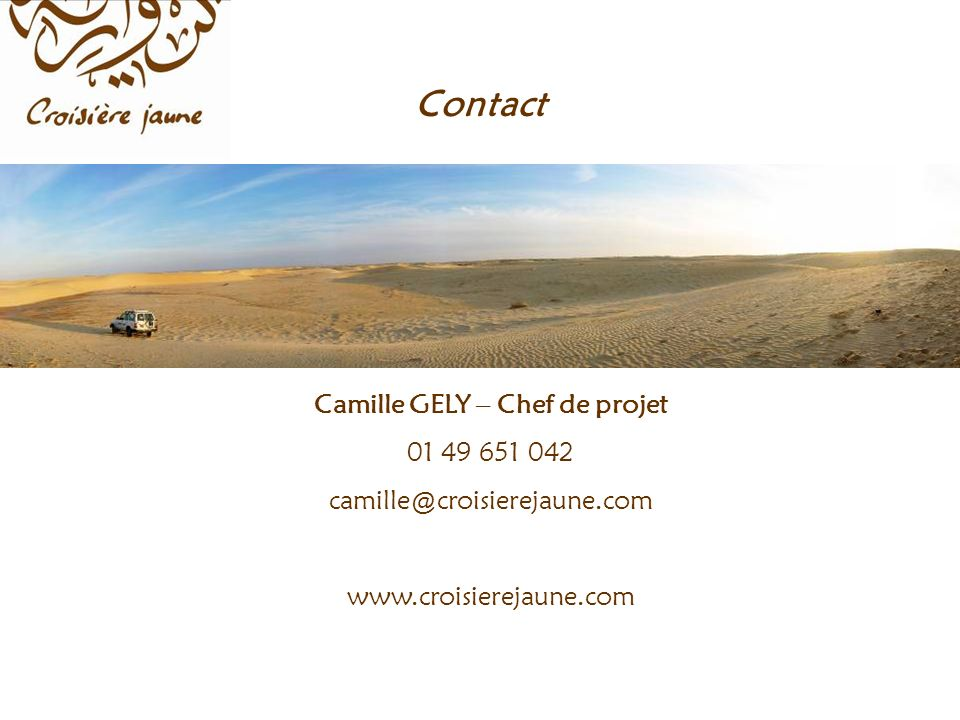 Camille GELY – Chef de projet Contact