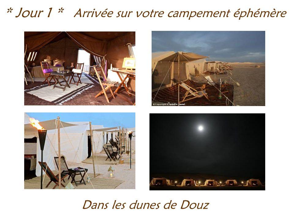Arrivée sur votre campement éphémère * Jour 1 * Dans les dunes de Douz