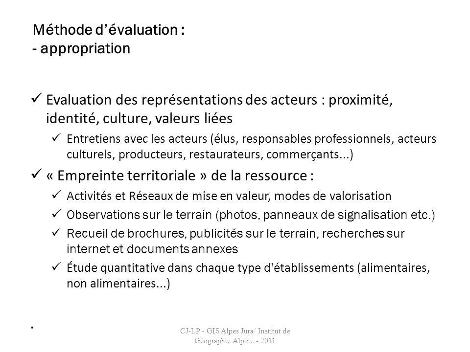 Evaluation des représentations des acteurs : proximité, identité, culture, valeurs liées Entretiens avec les acteurs (élus, responsables professionnel