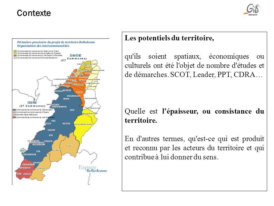Les potentiels du territoire, qu'ils soient spatiaux, économiques ou culturels ont été l'objet de nombre d'études et de démarches. SCOT, Leader, PPT,
