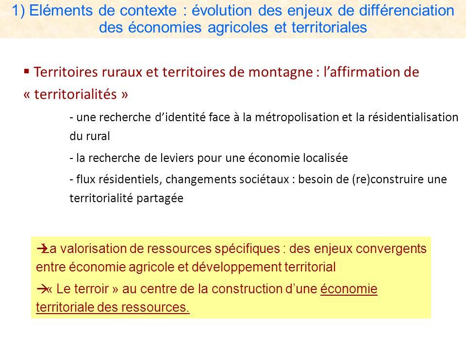 Territoires ruraux et territoires de montagne : laffirmation de « territorialités » - une recherche didentité face à la métropolisation et la résident