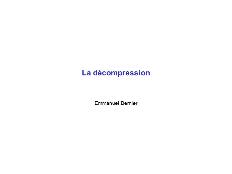 La décompression Emmanuel Bernier