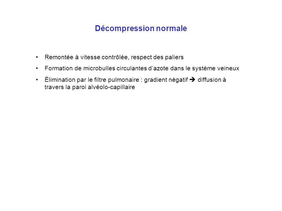 Laccident de décompression