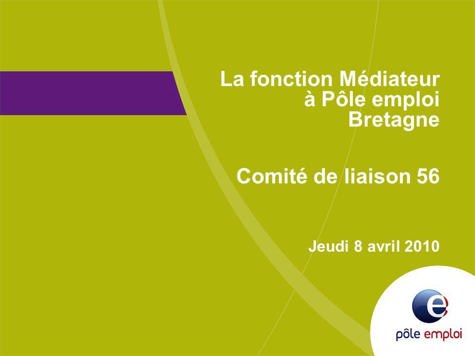 1 Présentation AFPA 8 avril 2010 La fonction Médiateur à Pôle emploi Bretagne Comité de liaison 56 Jeudi 8 avril 2010
