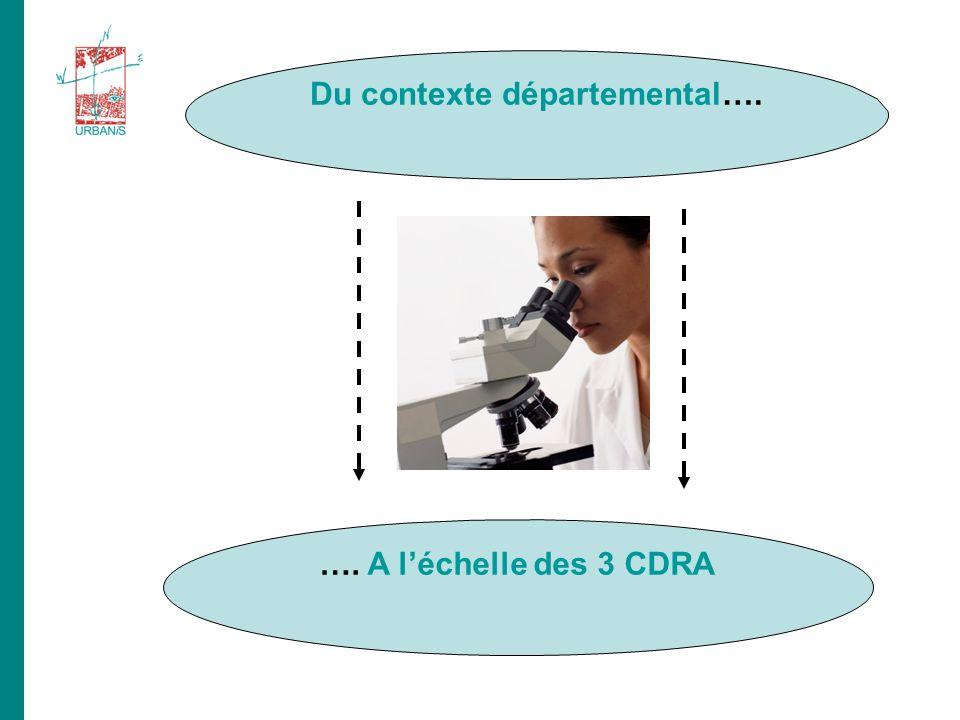 …. A léchelle des 3 CDRA Du contexte départemental….