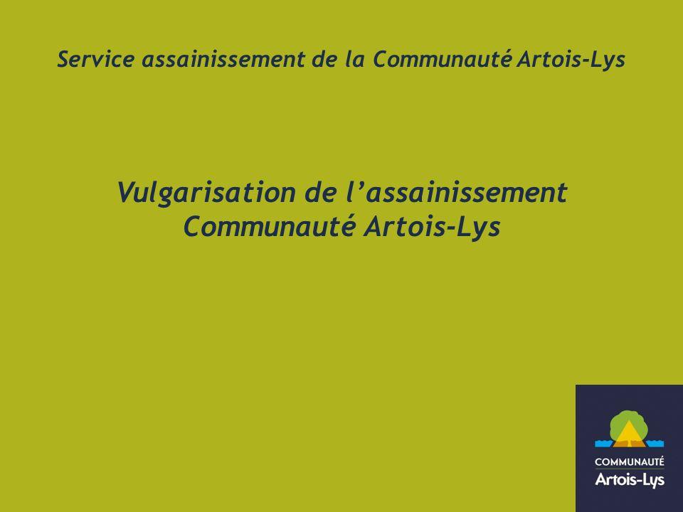 Service assainissement de la Communauté Artois-Lys Vulgarisation de lassainissement Communauté Artois-Lys