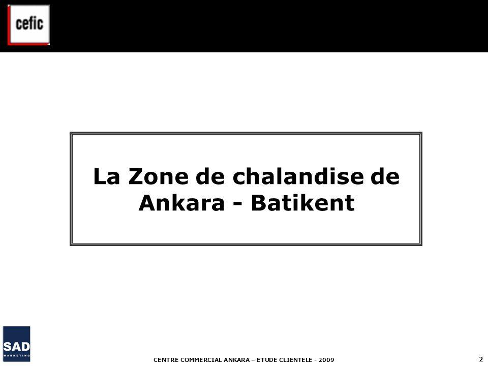 CENTRE COMMERCIAL ANKARA – ETUDE CLIENTELE - 2009 3 La zone de chalandise de Ankara - Batikent La zone de chalandise