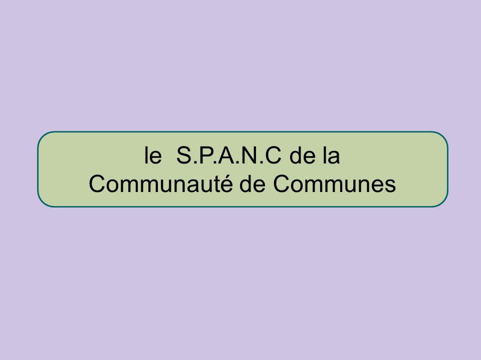 le S.P.A.N.C de la Communauté de Communes