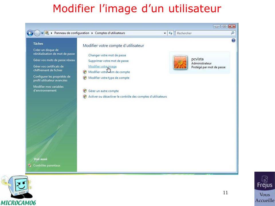 11 Modifier limage dun utilisateur