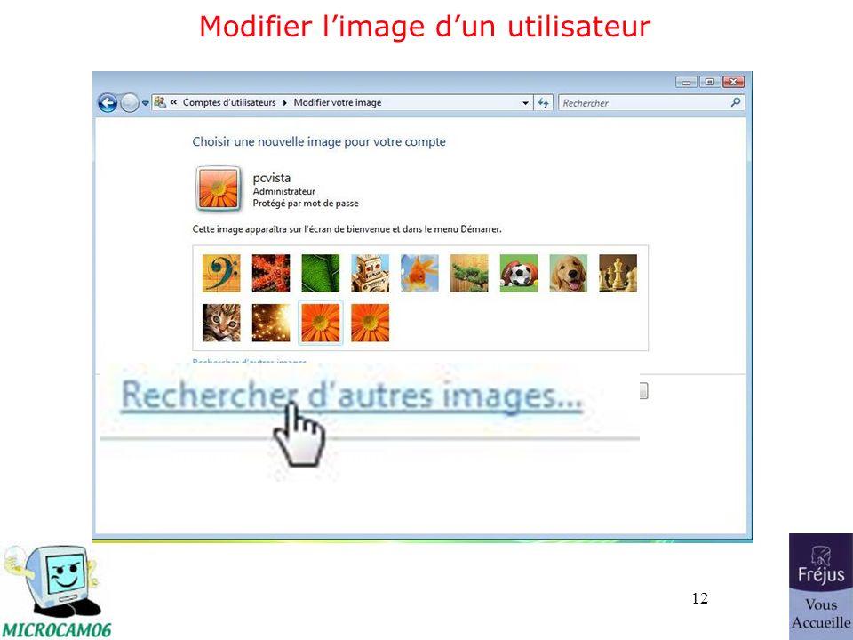 12 Modifier limage dun utilisateur