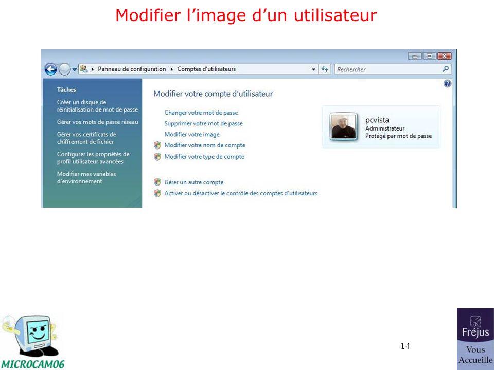 14 Modifier limage dun utilisateur