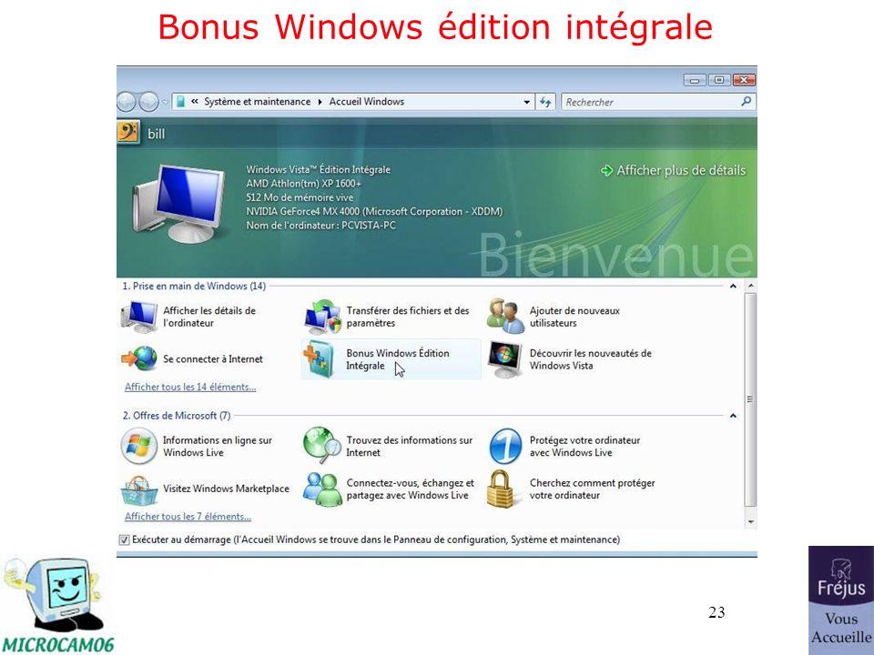 23 Bonus Windows édition intégrale