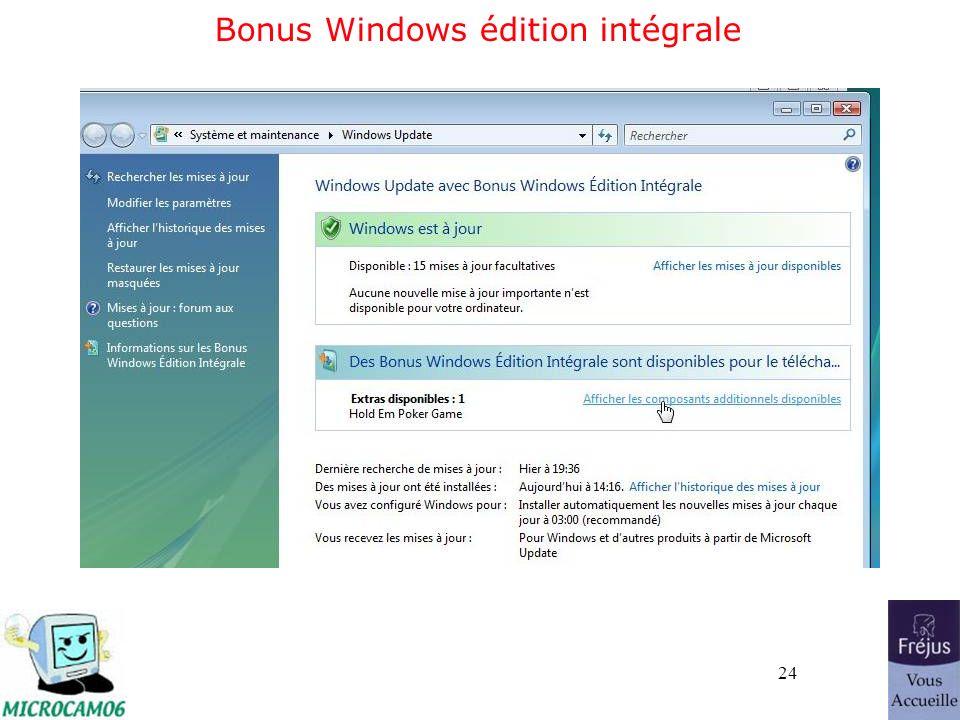 24 Bonus Windows édition intégrale