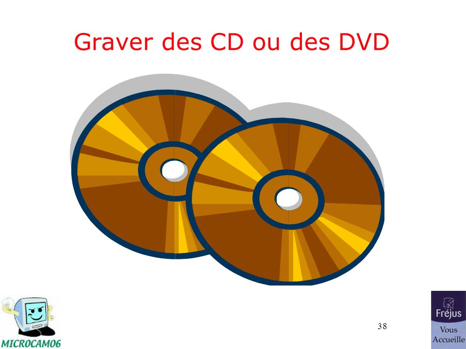 38 Graver des CD ou des DVD