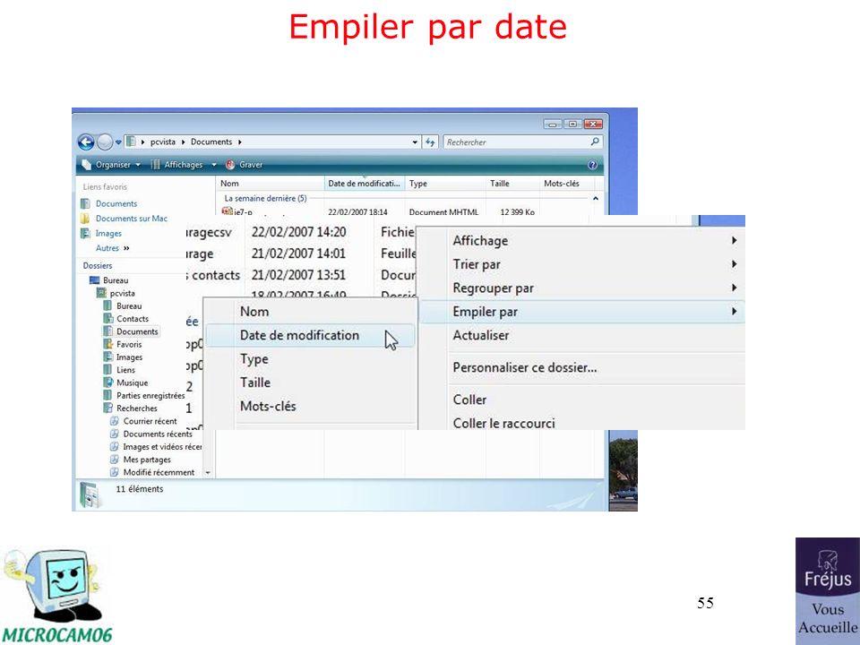 55 Empiler par date