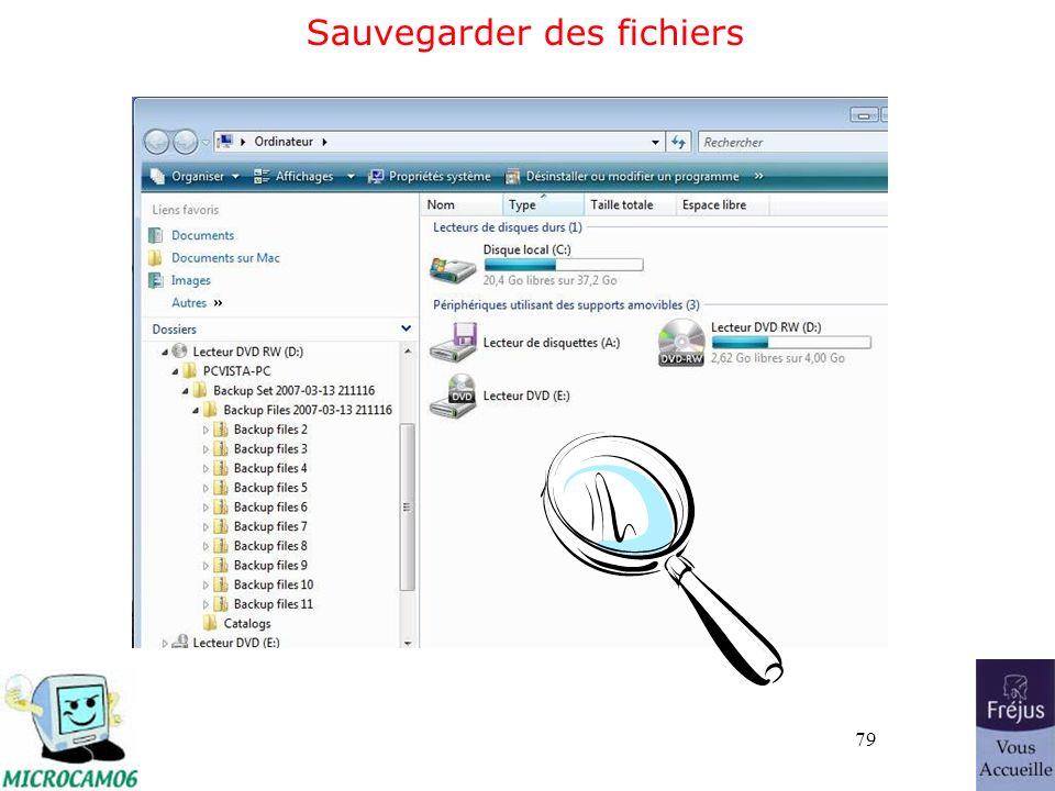 79 Sauvegarder des fichiers